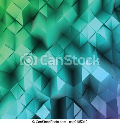 blu, abstract., vettore, triangolo - csp9185012