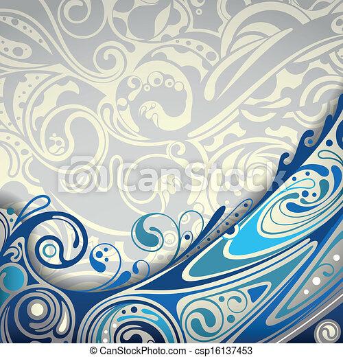 blu, astratto, curva, fondo - csp16137453