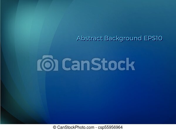 blu, astratto, curva, fondo - csp55956964