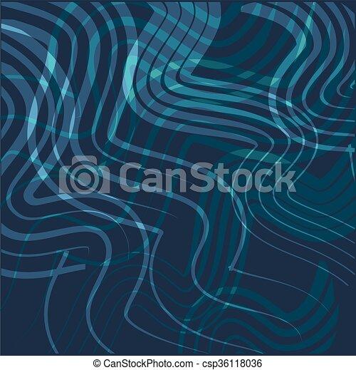 blu, astratto, curva, linea, fondo - csp36118036