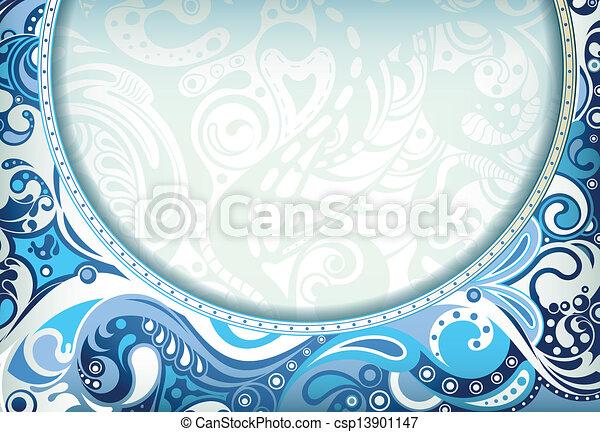 blu, astratto, curva - csp13901147