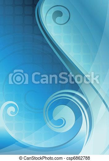 blu, astratto, curva - csp6862788
