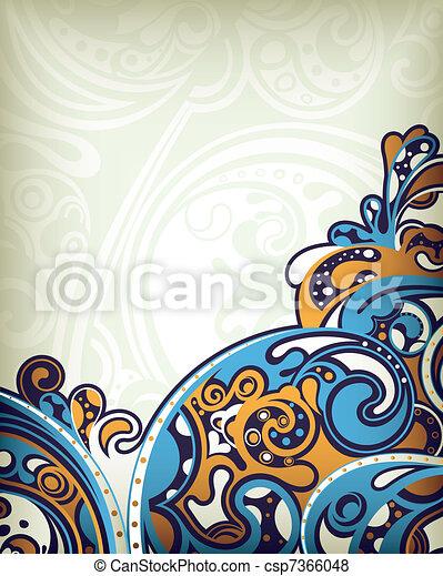 blu, astratto, curva - csp7366048