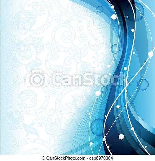 blu, astratto, curva - csp8970364