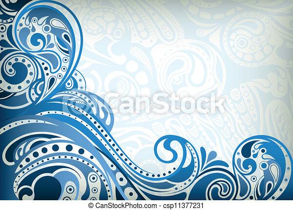 blu, astratto, curva - csp11377231