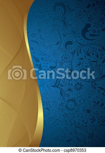 blu, astratto, curva - csp8970353