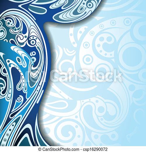 blu, astratto, fondo, curva - csp16290072