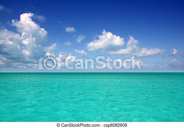 blu, caraibico, orizzonte, cielo, vacanza, mare, giorno - csp6082609