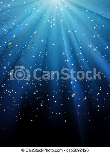 blu, eps, fondo., stelle, 8, strisce - csp5092426