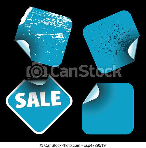 blu, etichette, quadrato - csp4729519