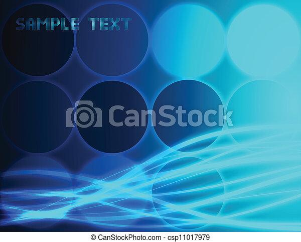 blu, fondo., astratto, vettore - csp11017979