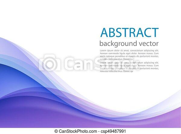 blu, illustration., astratto, fondo., vettore, linea - csp49487991