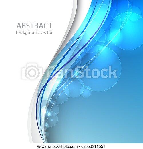 blu, illustration., astratto, fondo., vettore, linea - csp58211551