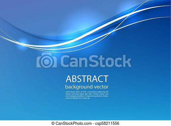 blu, illustration., astratto, fondo., vettore, linea - csp58211556