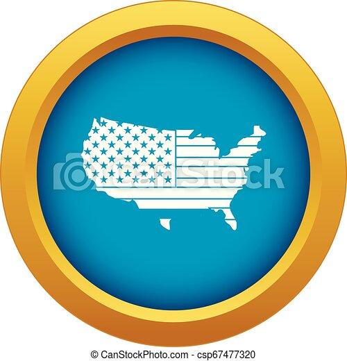 blu, mappa, isolato, americano, vettore, icona - csp67477320