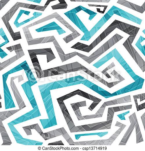 blu, modello, astratto, linee, seamless, curvo - csp13714919