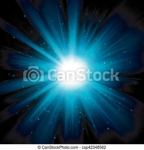 blu, oscurità, luce, illustrazione, vettore, lucente - csp42348562