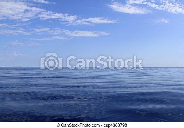 blu, perfetto, mare, oceano, calma, orizzonte - csp4383798