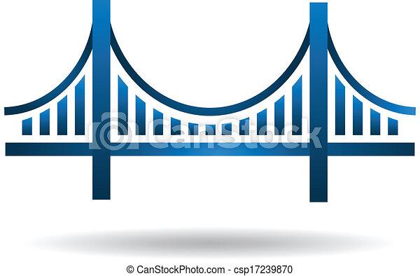 blu, ponte, vettore, logotipo - csp17239870