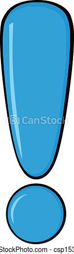 blu, punto esclamativo - csp15356397