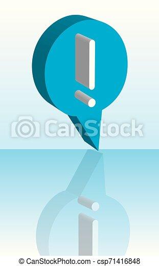 blu, punto esclamativo, vettore, fondo, uggia - csp71416848