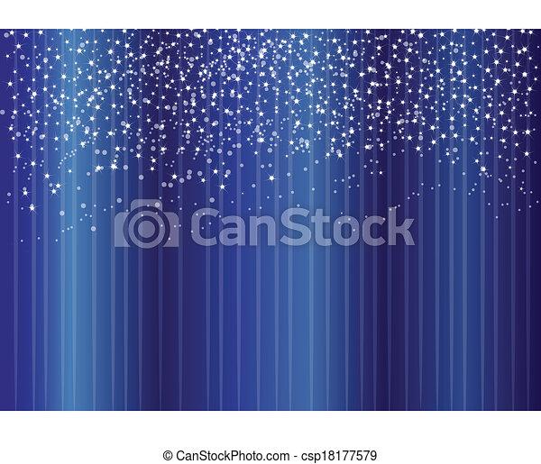 blu, stelle, fondo - csp18177579