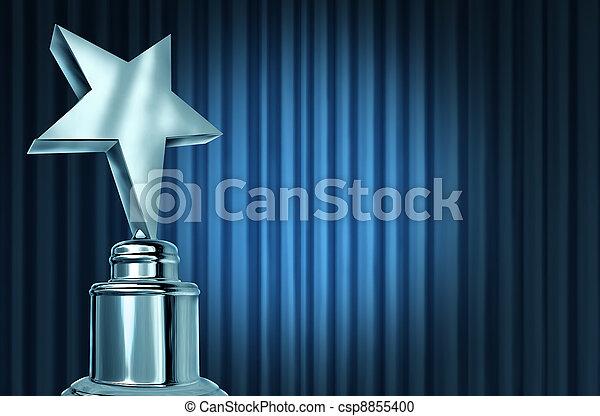 blu, tenda, stella, argento, premio - csp8855400