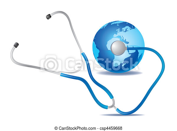 blu, terra, stetoscopio - csp4459668