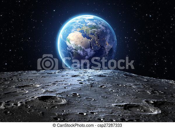 blu, visto, terra, luna - csp27287333
