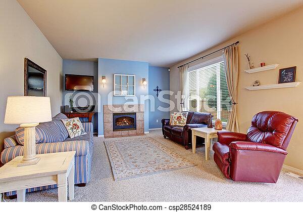 Blu Vivente Carpet Stanza Pareti Bello Blu Soggiorno Pareti Decor Bello Canstock