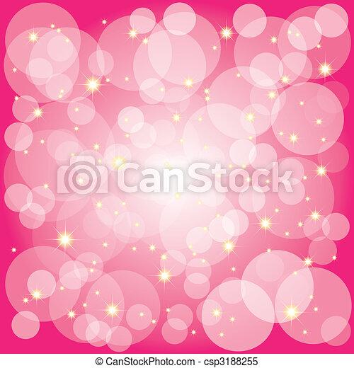 bolle, magenta, fondo, sfavillante, stelle - csp3188255