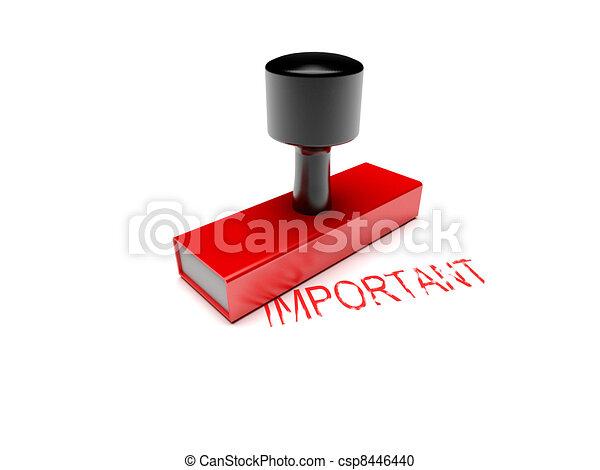 bollo gomma, importante - csp8446440