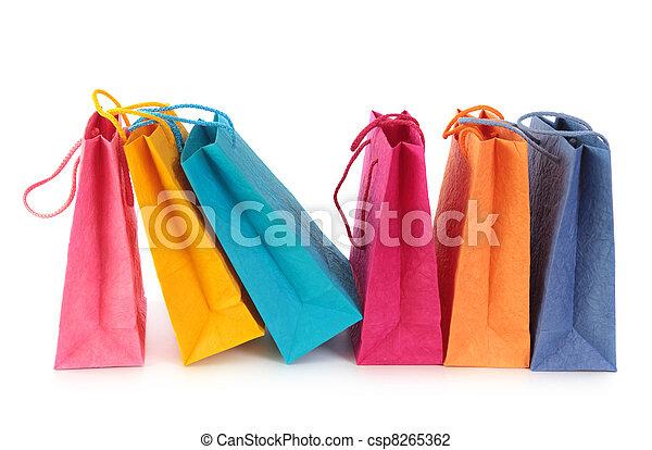 borse, shopping, colorito - csp8265362