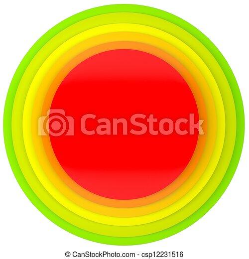bottone, dischi, colorato - csp12231516