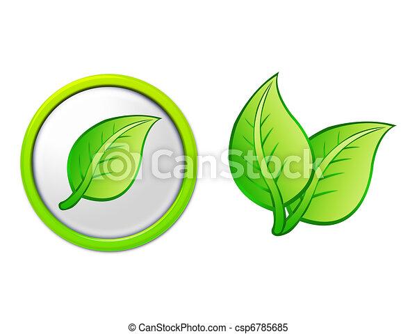 bottone, foglia, mette foglie - csp6785685