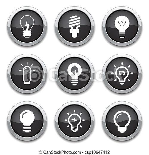 bottoni, lampadina - csp10647412