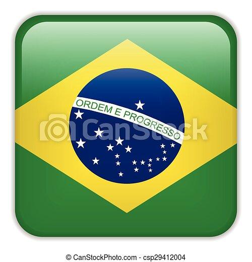 brasile, domanda, smartphone, bandiera - csp29412004