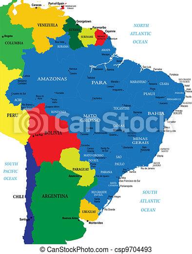 brasile, mappa - csp9704493