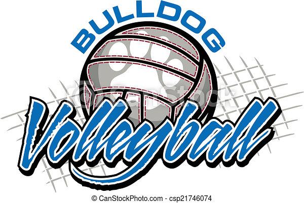 bulldog, disegno, pallavolo - csp21746074