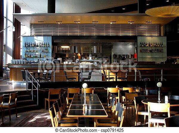 caffè, o, ristorante - csp0791425