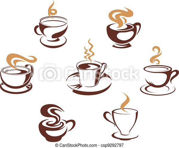 caffè tè, campanelle - csp9292797