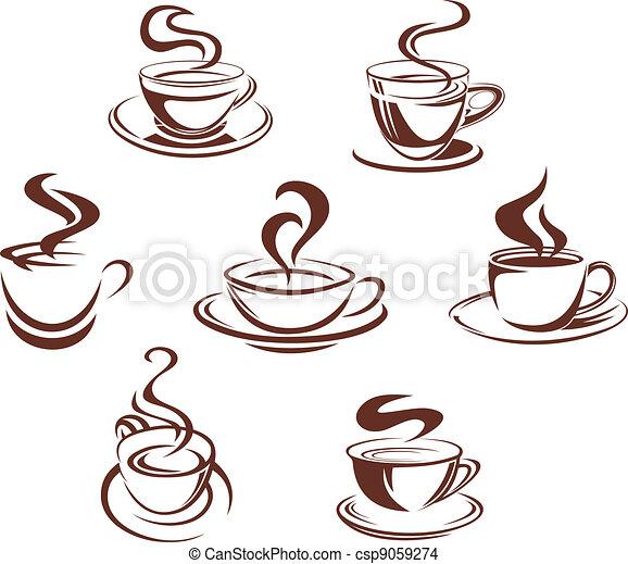 caffè tè, campanelle - csp9059274