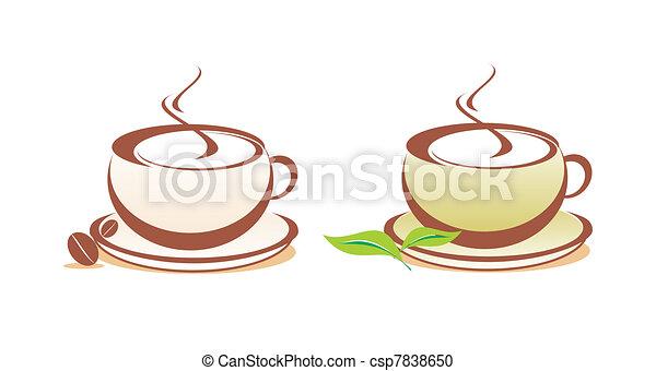 caffè tè, illustrazione, vettore - csp7838650
