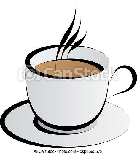 caffè, vettore, tazza - csp8695572