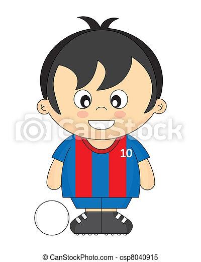 calcio, bambini - csp8040915