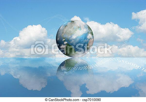calcolare, nuvola, tecnologia - csp7010090