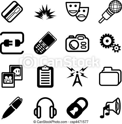 calcolare, rete, icona, serie - csp4471577