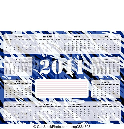 calendario, -, 2010-2014, sund, five-year - csp3864508