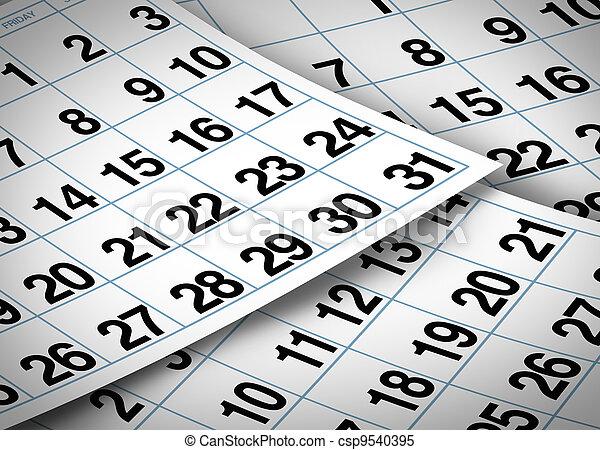 calendario, pagine - csp9540395
