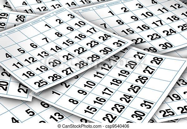 calendario, pagine - csp9540406